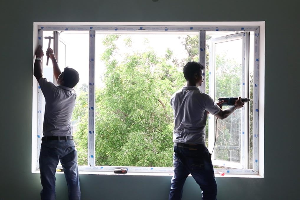 نصب و درب و پنجره UPVC - نصب درب و پنجره دوجداره