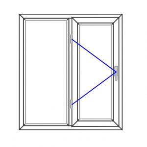 پنجره UPVC ساده سایز 1001*1125