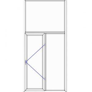 پنجره UPVC ساده سایز 1286*2821