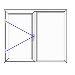 پنجره UPVC ساده سایز 1315*1120