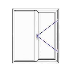 پنجره UPVC ساده سایز 1120*1310