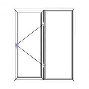 پنجره UPVC ساده سایز 1555*1815