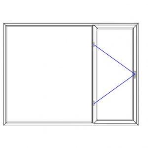 پنجره UPVC ساده سایز 2490*1885