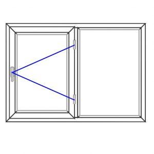 پنجره UPVC ساده سایز 1331*940