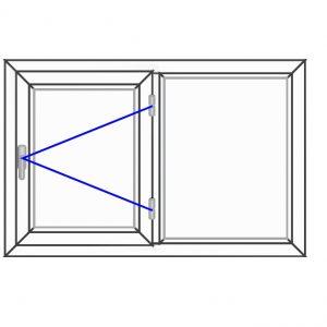 پنجره UPVC ساده سایز 1199*770