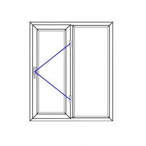 پنجره UPVC ساده سایز 1001*1197