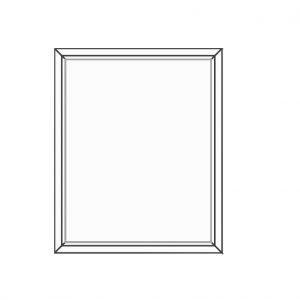 پنجره UPVC ساده سایز 930*1135