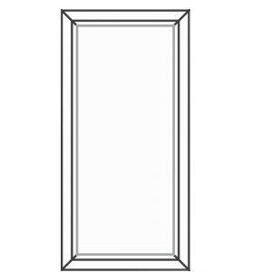 پنجره UPVC ساده سایز 500*1020