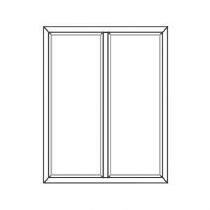 پنجره UPVC ساده سایز 955*1120