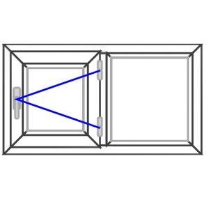 پنجره UPVC ساده سایز 880*490