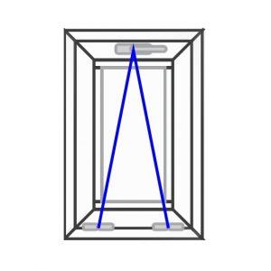 پنجره UPVC ساده سایز 390*590