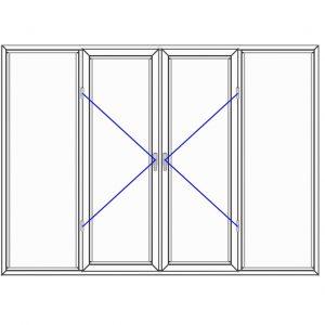 پنجره UPVC ساده سایز 2510*1820