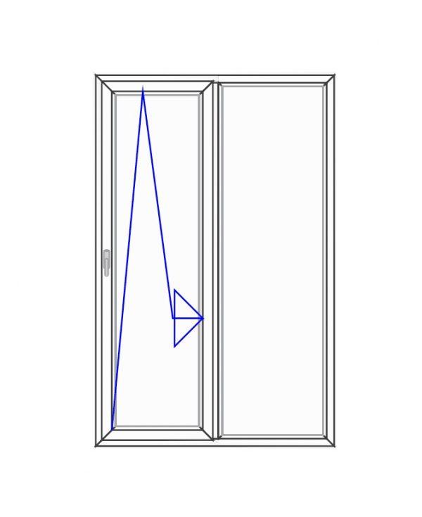 پنجره UPVC ساده سایز 1270*1975