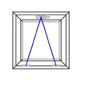 پنجره UPVC ساده سایز 600*615