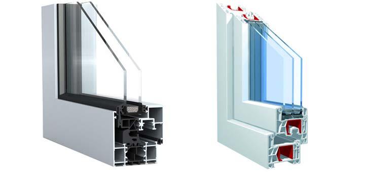 مقایسه پنجره UPVC و آلومینیوم