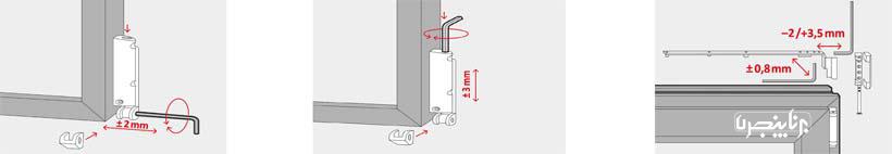رگلاژ پنجره - لولاهای قابل رگلاژ