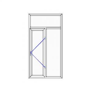 پنجره UPVC ساده سایز 1009*2000