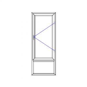 پنجره UPVC ساده سایز 692*1887