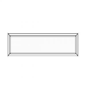 پنجره UPVC ساده سایز 1591*429