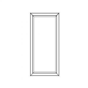 پنجره UPVC ساده سایز 501*1026