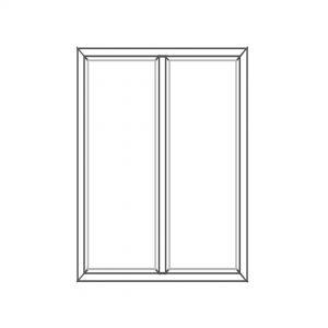 پنجره UPVC ساده سایز 960*1130