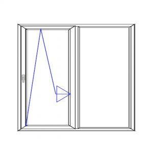 پنجره UPVC ساده سایز 1276*1978
