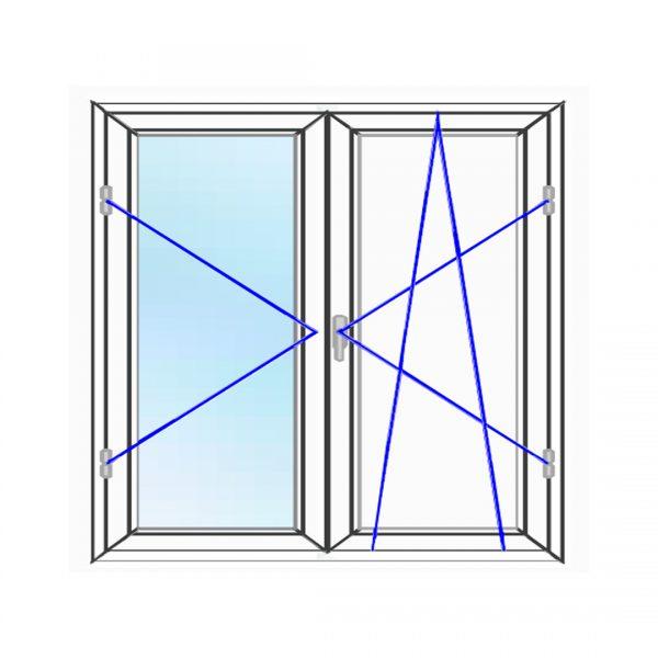 پنجره UPVC ساده سایز 1092*1463