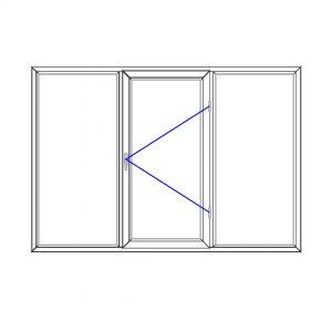 پنجره UPVC ساده سایز 2313*1560