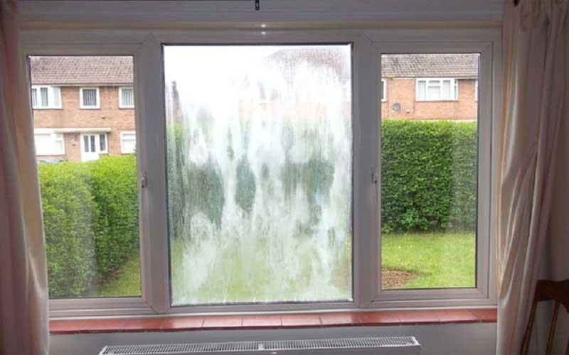 بخار زدن شیشه