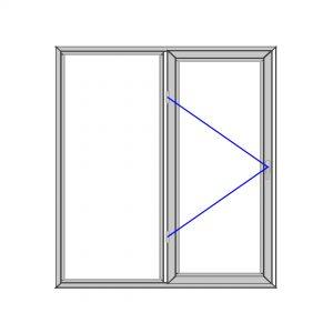پنجره آلومینیوم 1515*1816