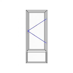 پنجره آلومینیوم سایز 730*2008