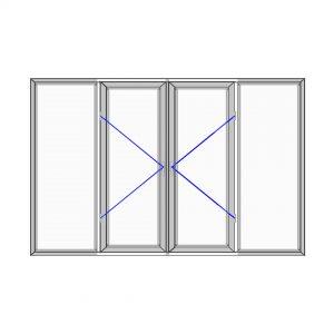 پنجره آلومینیوم سایز 2505*1820
