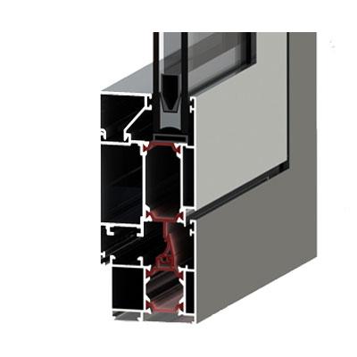 درب و پنجره لولایی آلومینیوم آکپا TH-55
