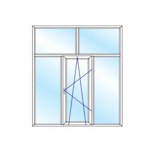پنجره UPVC ساده سایز 2269*1799