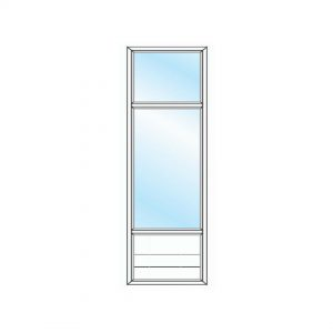 پنجره UPVC ساده سایز 2715*729