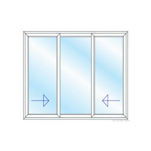 پنجره UPVC ساده سایز 2904*2234