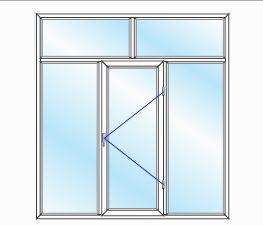 پنجره UPVC ساده سایز 2094*2269