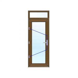 پنجره UPVC لمینت سایز 785*2120