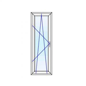 پنجره UPVC ساده سایز 548*1635